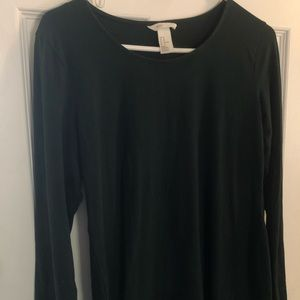 Dark green Long Sleeve fitted dress